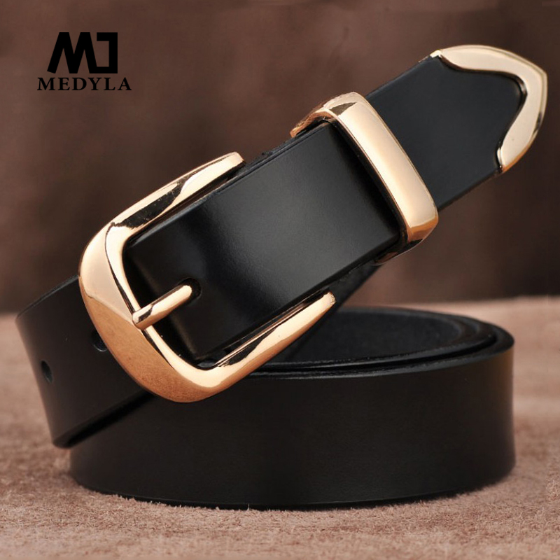 MEDYLA Women's Strap Casual All-match Women Brief Genuine Leather Belt Women Strap Pure Color Belts Top Quality Jeans Belt L27
