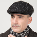 Men's new year wool hat male Claus hat peaked cap autumn and winter warm ear cap  B-0657