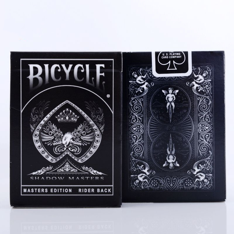 Shadow Masters Original Bicycle Shadow Playing Card magic trick Black Deck By Ellusionist Creative Poker Magic Props 81215 magic scratch card magic props white black