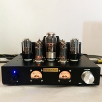 IWISTAO Tube Amplifier Single ended Class A 6P1 Parallel Power Stage 2x6.8W 6N8P Preamp 5Z3P Rectifier Natural Sweet HIFI Audio