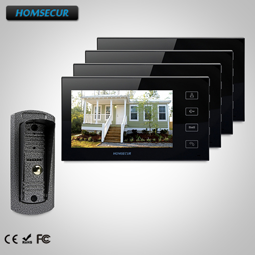 HOMSECUR 7 Wired Video Door Entry Security Intercom+Outdoor Monitoring TC041 Camera + TM704-B Monitor