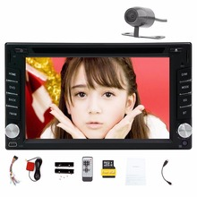 "Rear Camera+Free 8GB Map Card 2 Din Car GPS DVD Player Navigation 6.2"" Car Stereo Bluetooth Car Radio Audio Video Player"