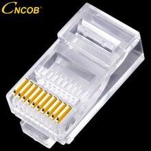 Conector Ethernet 10P10C, RJ45, RJ48, RJ50, Cat5E, UTP, red, enchufe Modular de cristal, conector de Cable de red de 10 pines, 30 Uds.