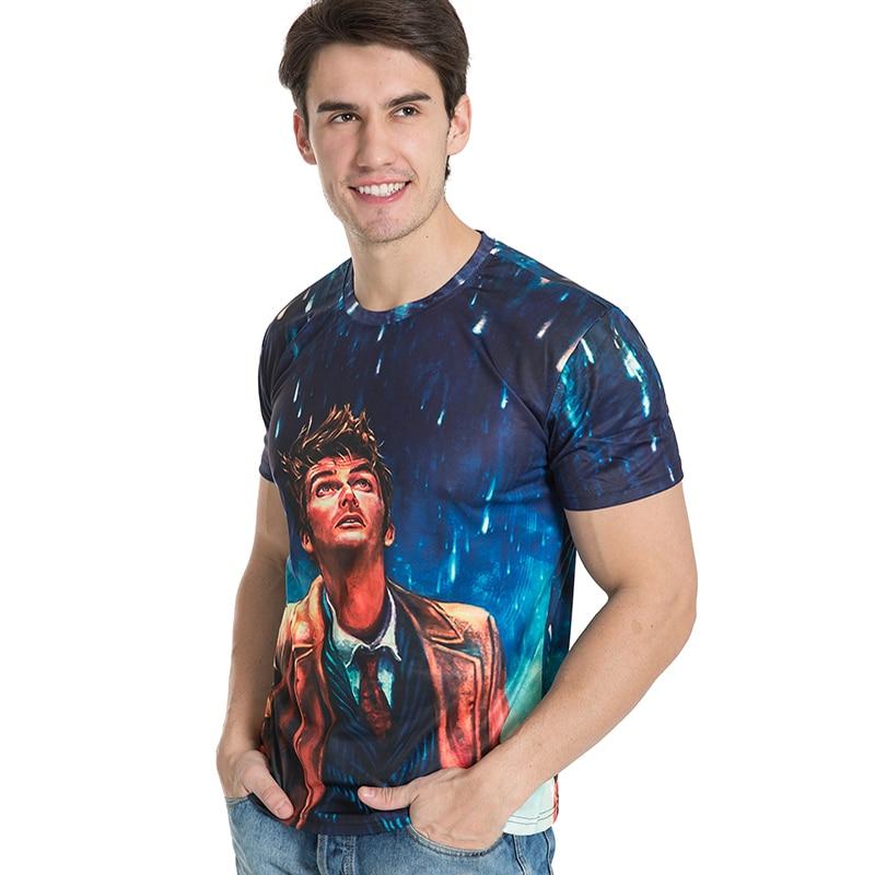 BIANYILONG Brand clothing New Fashion Men/Women Tshirts Looking up at the meteor shower 3d Print T-shirt Summer Tops Tees Shirts