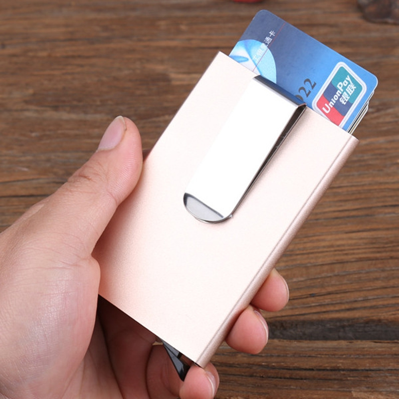 Vintage Business Aluminium Credit Card Holder Men Women Rfid ...