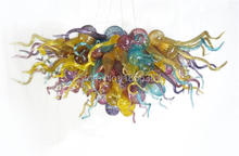 Free Shipping Restaurant Lighting Multi Colored Glass Chandelier Selling