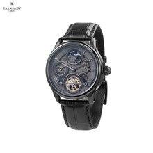 Наручные часы Earnshaw ES-8063-03 мужские механические с автоподзаводом на кожаном ремешке