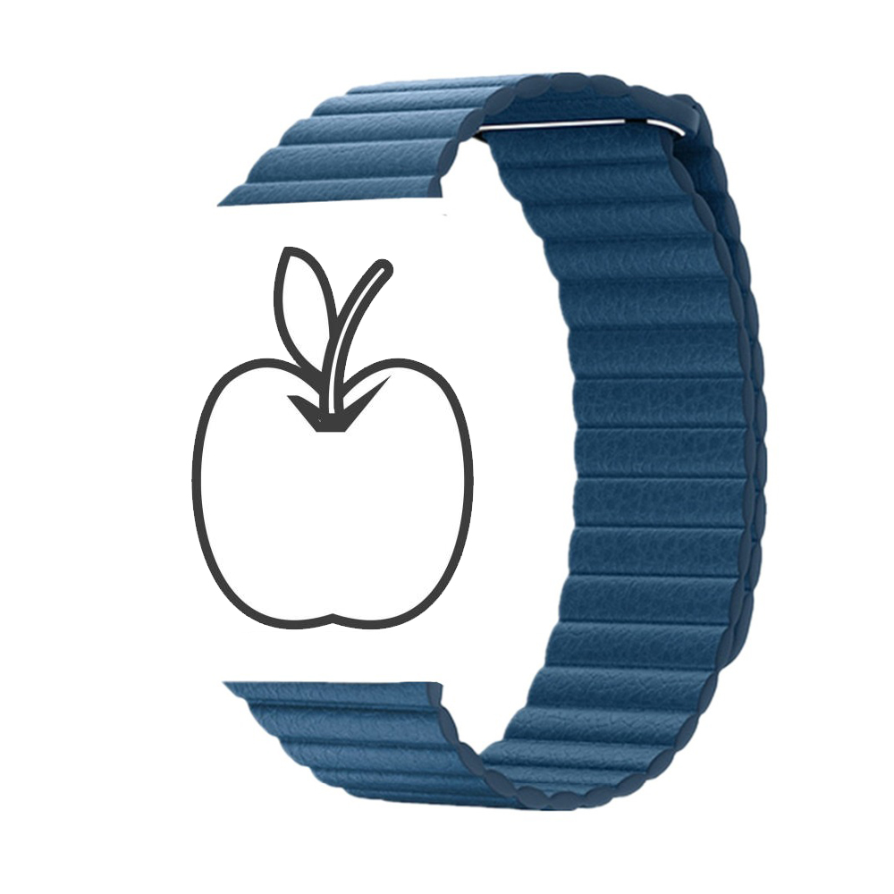 Leather Loop strap For Apple Watch band 44mm/40mm iWatch series 4/3/2/1 42mm/38mm Magnetic Closure wrist bracelet clock belt цена