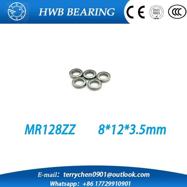 Free Shipping 10pcs MR128ZZ MR128 ZZ MR128-2Z 8X12X3.5 mm Deep groove Ball Bearings  Miniature Bearing MR128 / L-1280 ZZ  free shipping 10 pcs 684zz 684z 684 bearings 4x9x4 mm miniature ball bearings l 940zz abec5