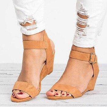 Zapatos Planas Tenis Mujer Verano Calzado De Hebilla Cuña Sandalias Femenino Cómodas Sandalia fg7bYv6y