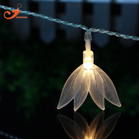Feuilles 10LED fée lumières Amazon épée usine chaîne d'éclairage lumière Echinodorus amazonicus Rataj décoration 3 V AA batterie boîte