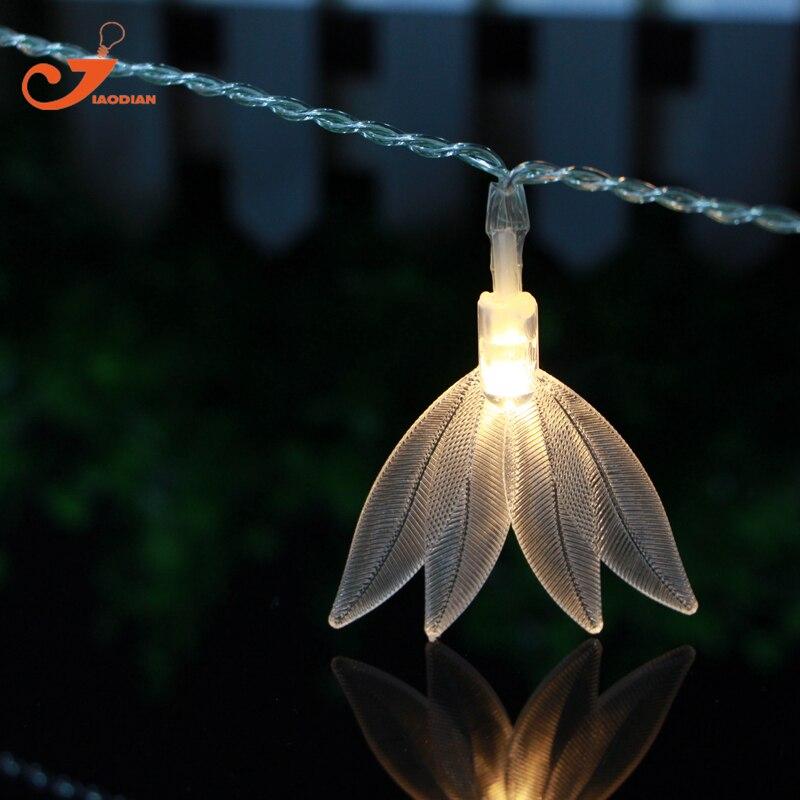 Leaves 10LED fairy lights Amazon sword plant lighting string light Echinodorus amazonicus Rataj decoration 3V AA battery box