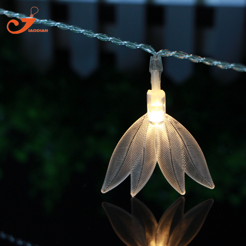 Leaves 10LED fairy lights Amazon sword plant lighting string light Echinodorus amazonicus Rataj decoration 3V AA battery box