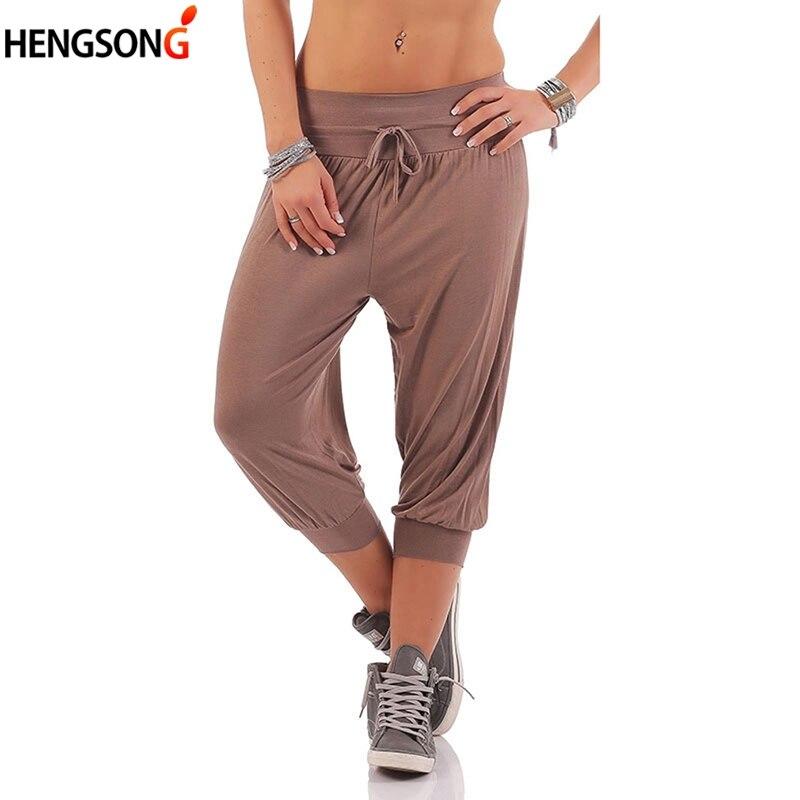 Women Hip Hop Harem Pants Large Size Calf Length Sports Pants Female Loose Sports Velloyball Basketball Tennis Pants