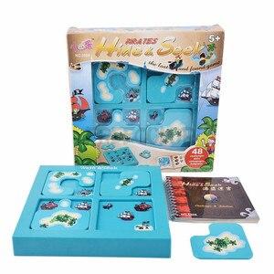 Image 2 - SUKIToy çocuk Yumuşak Montessori Erken Kafa Başlangıç Eğitim Oyuncak Hide & Seek IQ Masaüstü oyunları Ile Çözüm kitap SC002