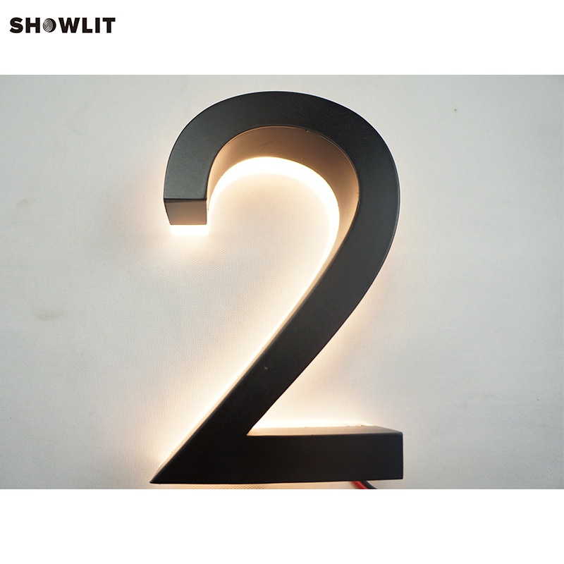Electronic Components & Supplies Factory Outlet Outdoor 304# Stainless Steel Led House Numbers & Apartment Led Numbers Size H15cm