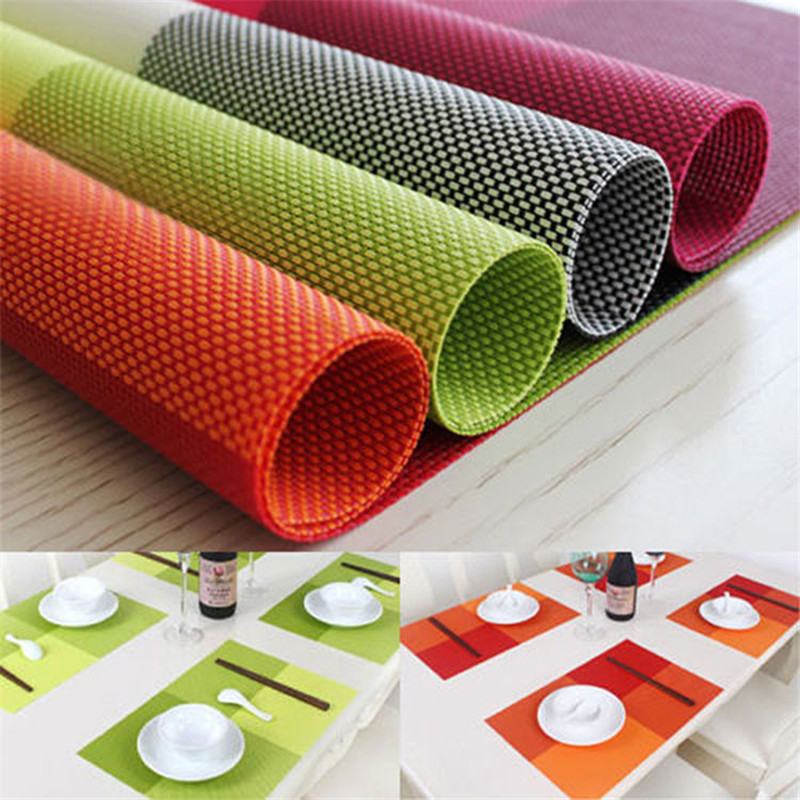 Pvc Rectangle Kitchen Table Mats Dinning Waterproof Cloth Coaster Insulation Pad Bakeware Accessories 5zcf011 In Pads From Home