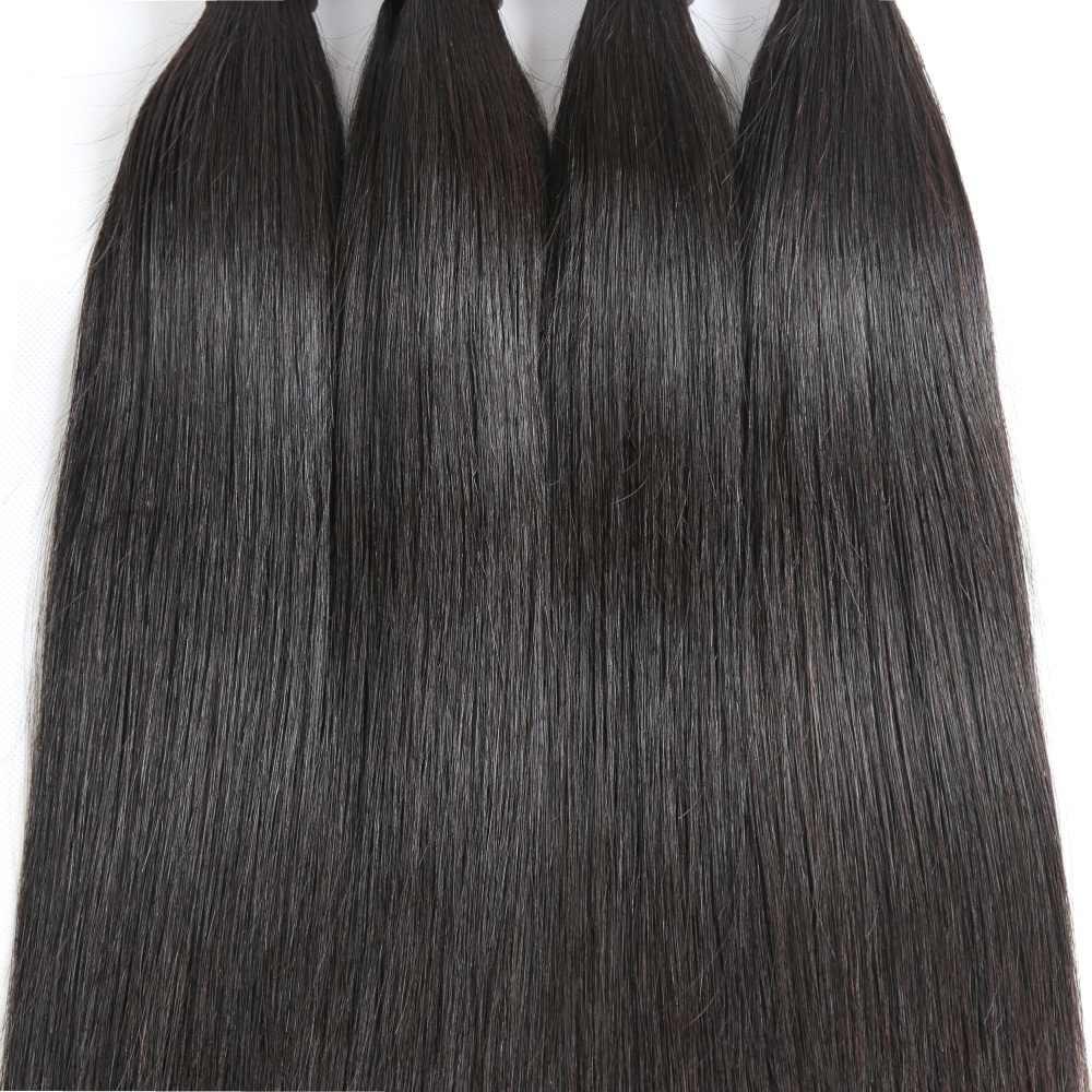 Alibd Malaysian Virgin Hair Straight Human Hair 3 Bundles Deals Raw Virgin Cuticle Aligned Hair Can Dyed and Bleached Weaves