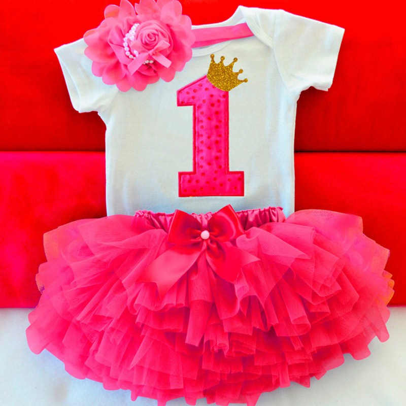 8d9a994efb183 Toddler Girl First 1 Year Baby Girl Birthday Party Dress Newborn Baby Photo  Shoot Tutu Cake Outfits Infant Baptism Clothes 12M