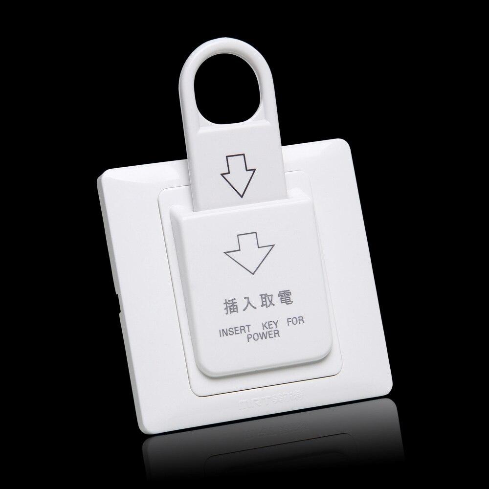 bilder für 10 stücke 86mm x 86 cm Hotel Magnetkarte elektrischen Schalter 180 v ~ 250 v 220 V/25A taster Einsatz Key elektrische power control buchse