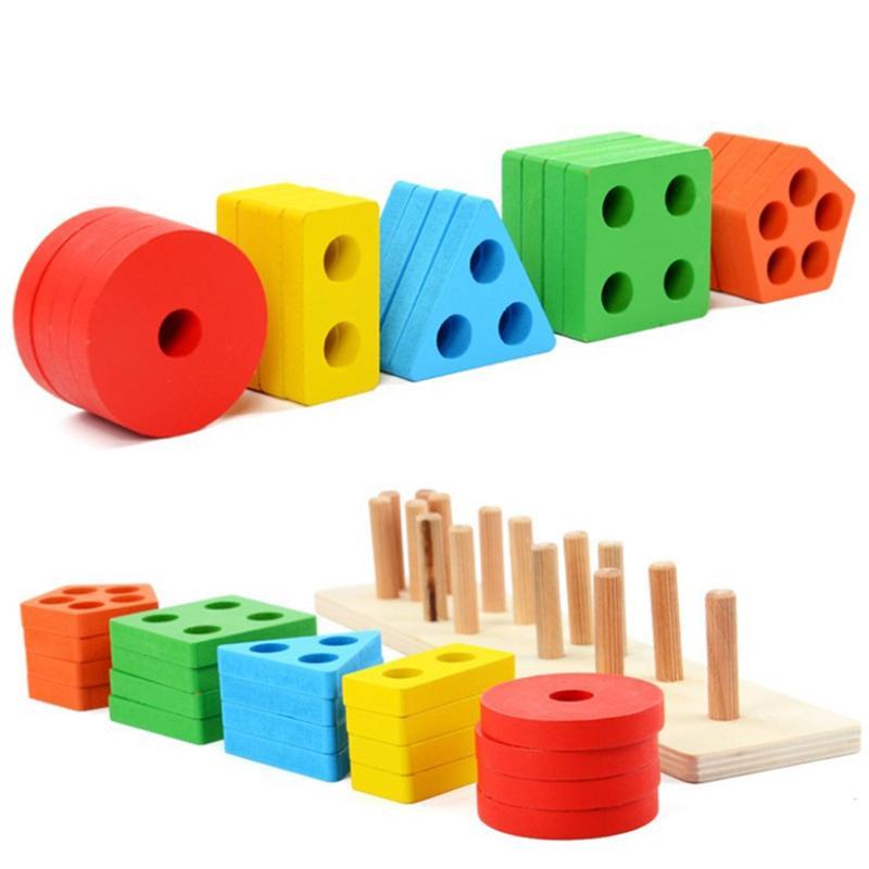 Aliexpress.com : Buy 1PCS Wooden Montessori Colorful Cute ...
