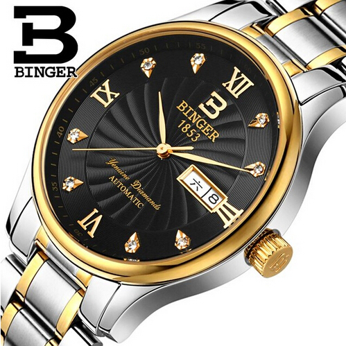 Binger Quartz Watch Men Watches Top Brand Luxury Famous Wristwatch Male Clock Wrist Watch Switzerland watch Relogio Masculino switzerland binger watches men luxury top brand new fashion army designer quartz watch male wristwatch relogio masculino relojes