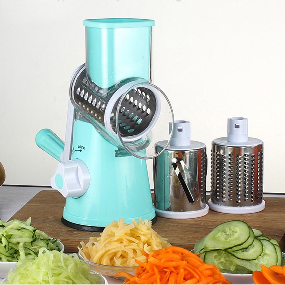 Multifunctional Hand-operated Vegetable Potato Julienne Carrot Shredder Slicer Kitchen Roller Vegetable Cutter Food Processor drone helipad