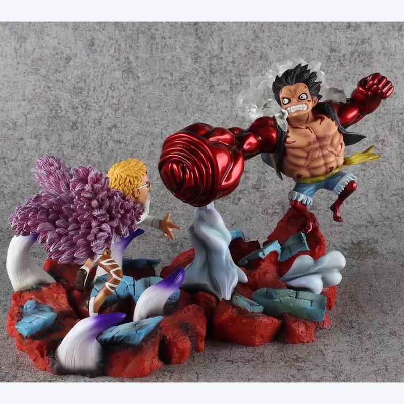 One Piece Fourth Gear Luffy Vs Doflamingo Battle Anime Figure PVC Action Figures Collection Model Toy Gift Doll Decoration WX309 anime cartoon one piece sabo 25cm action figure collection pvc model children toy gift