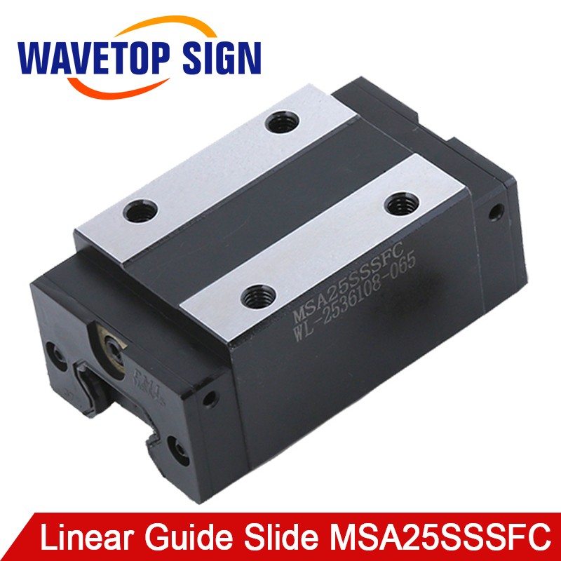 PMI Linear Guide Slide carriage block MSA25SSSFC slider use for co2 laser machine & linear rail CNC diy parts large format printer spare parts wit color mutoh lecai locor xenons block slider qeh20ca linear guide slider 1pc