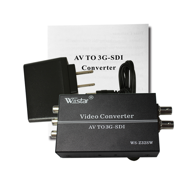 2017 New Style SDI Converter Adapter CVBS 3D decoding to SDI Support Full-HD / SD-SDI / 3G-SDI 2 SDI Ports Free Shipping 10pcs new hot selling for wii to hdmi wii2hdmi adapter converter full hd 1080p output upscaling 3 5mm audio box free shipping
