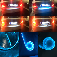 Led Flow Strip Trunk Box With Side Turn Signal Rear Light Ice Blue Red Yellow White
