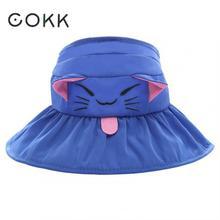 COKK otoño verano sombreros para niñas niños cubo sombrero de niño de  dibujos animados gato sol sombrero de playa vacaciones vis. e2c931e3adc