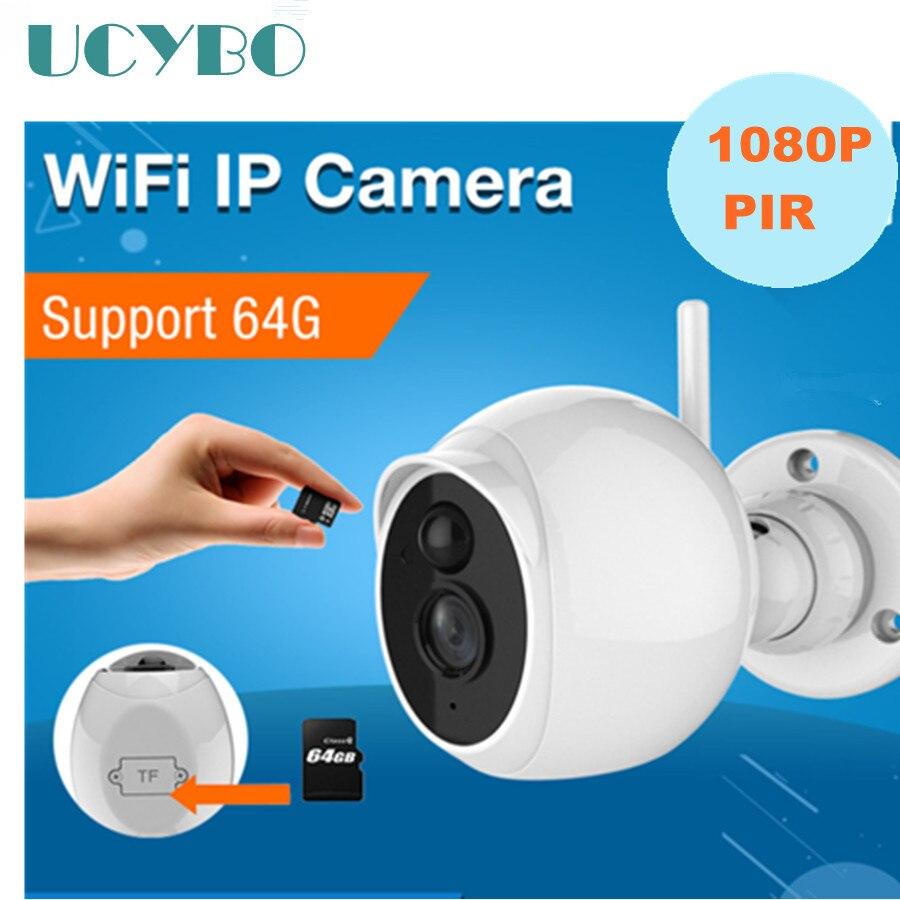 Мини Беспроводная 1080 P IP Камера WI-FI Открытый ИК ночного видения сети 2mp Камера S де Seguridad ПИР обнаружения движения IP SD карты