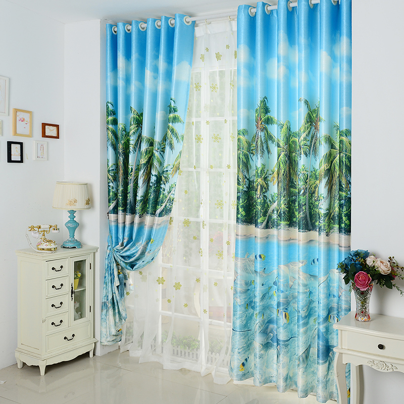 Mediterranean Sea cloth curtain art 3d printing product ...