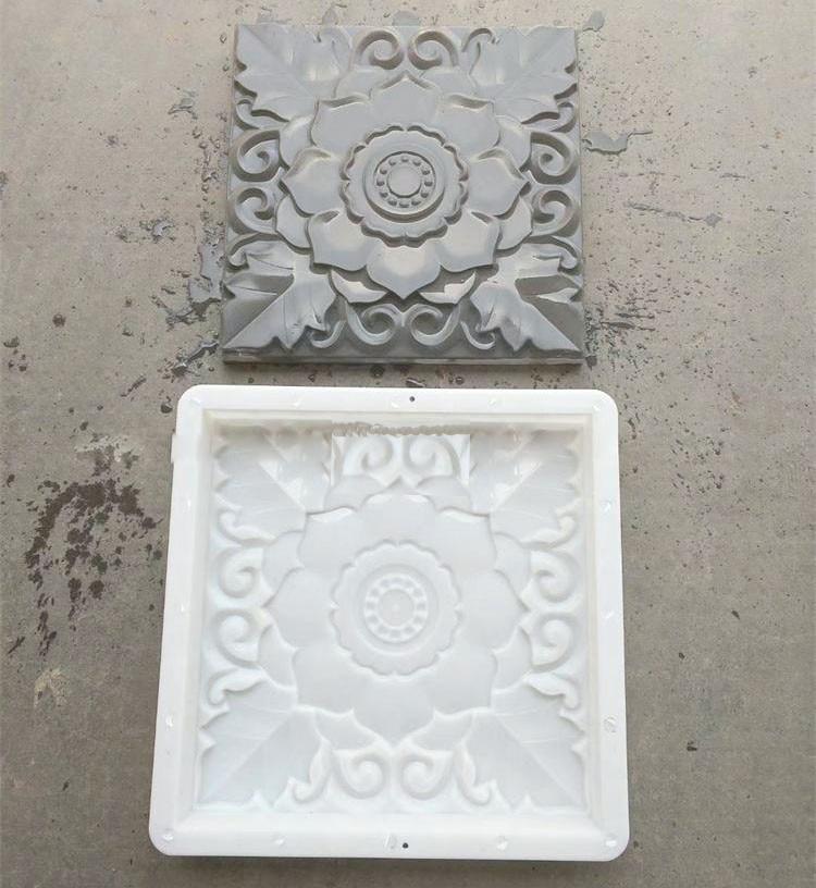 1PCS DIY Square Plastic Garden Pavement Mould Courtyard Wall Brick Carving Paving Concrete Brick Plastic Mould 40 40 3 6cm