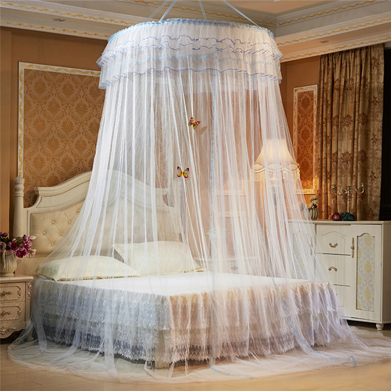Hanging Round Dome Mosquito Net Luxury Princess Pastoral Lace Bed Canopy Crib Luminous Butterfly Mosquito Net (White)-in Mosquito Net from Home u0026 Garden on ... & Hanging Round Dome Mosquito Net Luxury Princess Pastoral Lace Bed ...