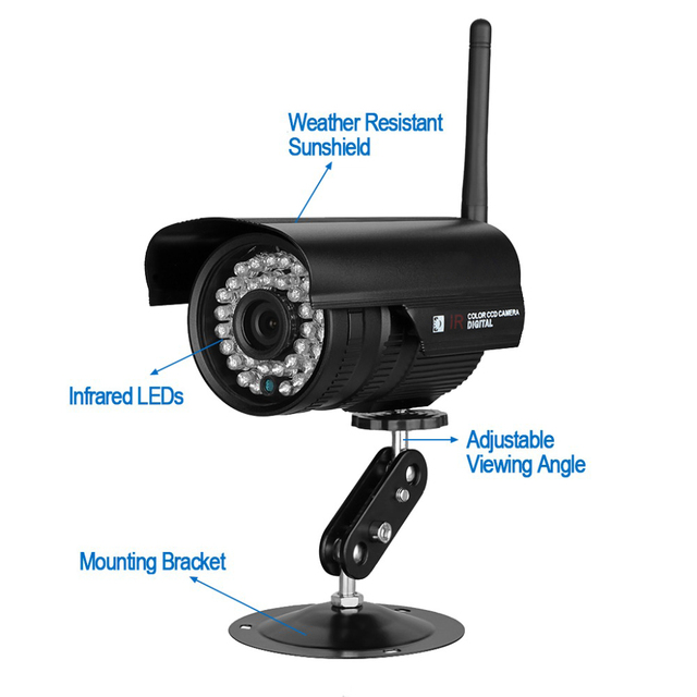 Hd Bullet 1080p Ip Camera 2mp Wifi Wireless Outdoor Waterproof Infrared Night Vision Motion Detect Cctv Webcam Freeshipping
