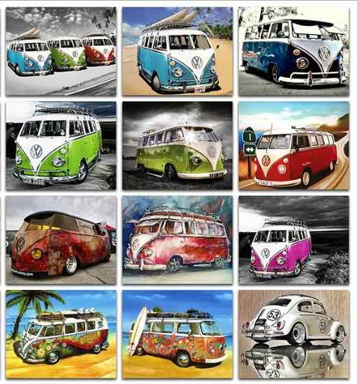 מכירה לוהטת Diy 5D יהלומי רקמת קריקטורה רכב 5d יהלומי פסיפס כלב יהלומי ציור רכב Daimond-ציור בית קיר מדבקה