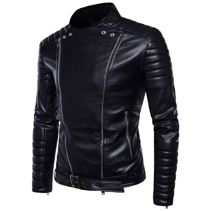 Soupe Dream classique moto veste en cuir hommes nouveau Style britannique multi-zipper veste décontracté cuir casual Biker veste mâle manteau.