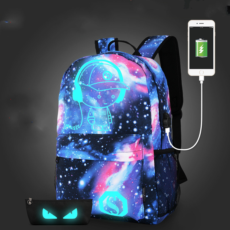 Women Fashion  Backpack Canvas Galaxy Star Universe Space Printing Backpacks Girls School Bag Mochila Feminina Christmas Gifts
