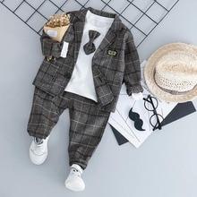 Baby Boy moda formalne odzież ustaw Kid Tie garnitury wysokiej jakości babie lato dzieci ubrania 1 2 3 4 lat