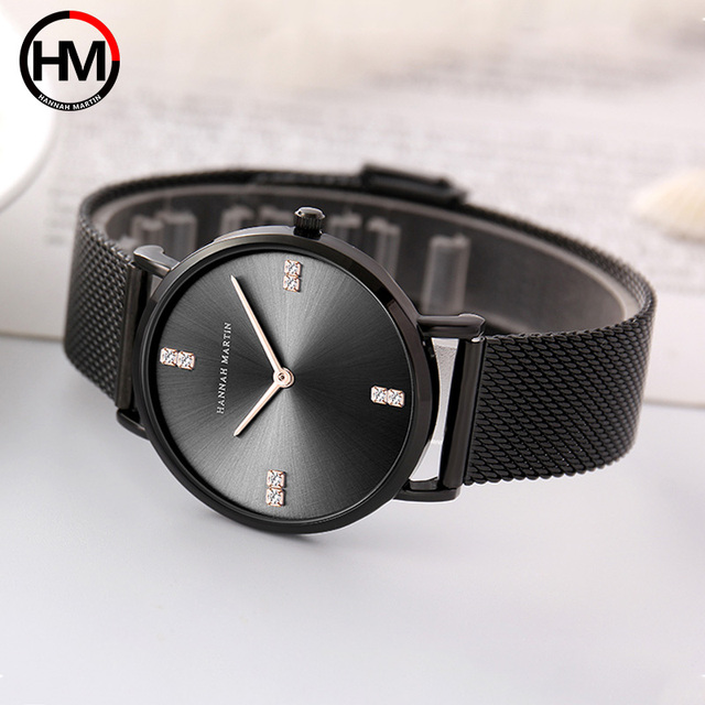 Women Bracelet Watch Luxury Brand Women Dress Watch Rose Gold Steel Mesh Female