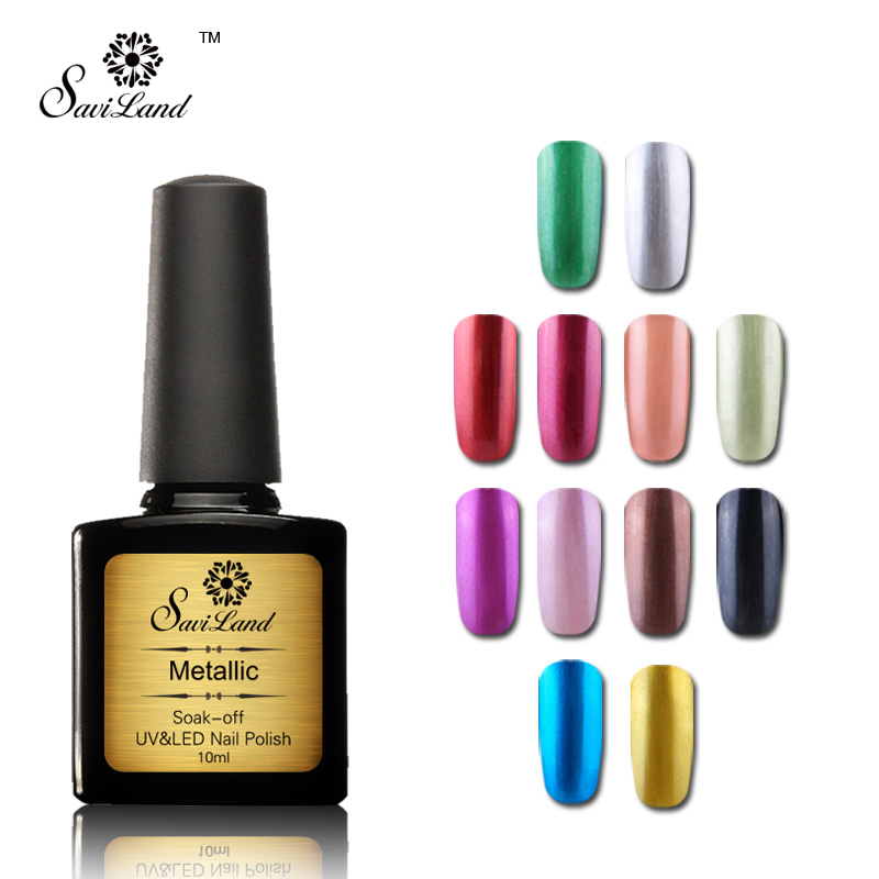 Very Me Metallic Nail Polish Shades: Saviland 1pcs Mirror Polish 10ml Metallic 3D Nails UV Soak