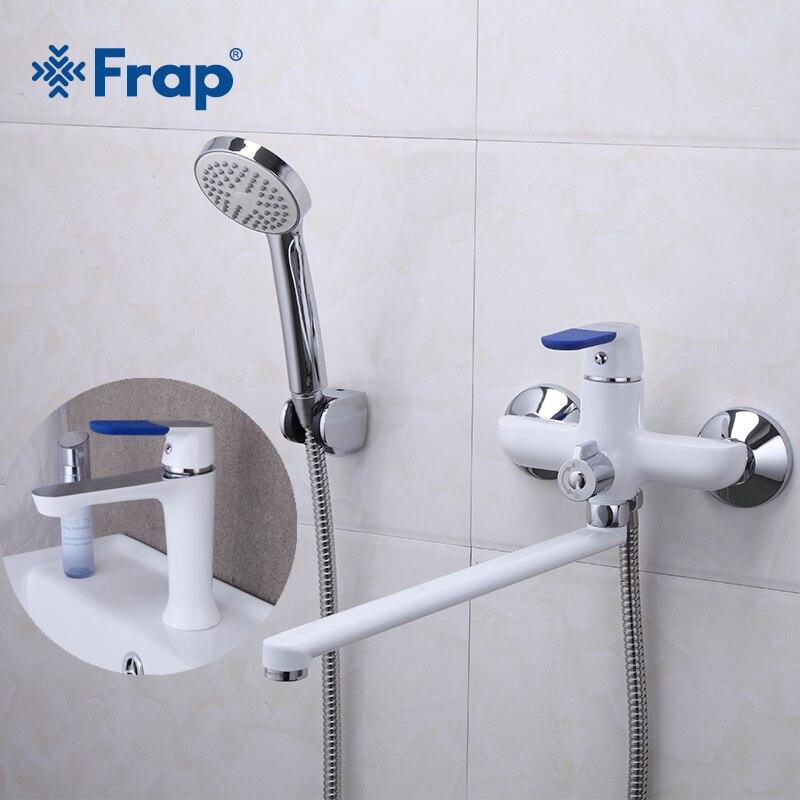 Frap Hot Classic 1 Set avec peinture Spary salle de bain baignoire robinet de douche avec robinet mitigeur pomme de douche Torneira F2234 + F1034