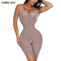 HEXIN Full Body Shaper Бесшовные бедра корсет для контроля за животом живота приталенное, корректирующее женское Утягивающее крючки боди