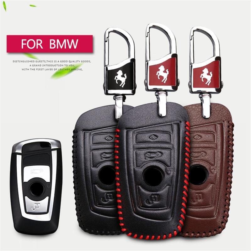 2018 Nuevo Genuine Leather Car Key Case cubierta para BMW 520 525 F30 - Accesorios de interior de coche - foto 1
