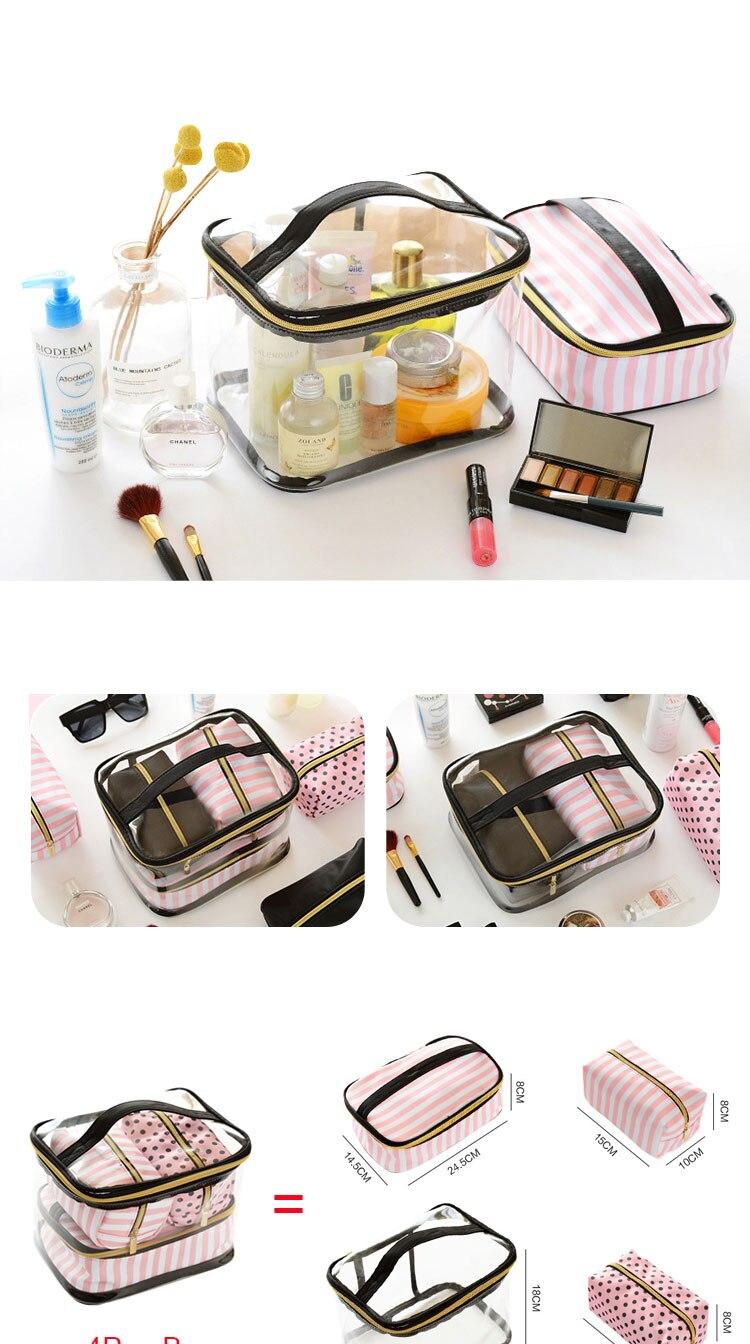 saco de higiene pessoal conjunto rosa beleza