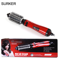 Professional 2 In 1 Hair Styling Tool 1000W Hair Blow Dry Brush Hair Curler Auto Rotation
