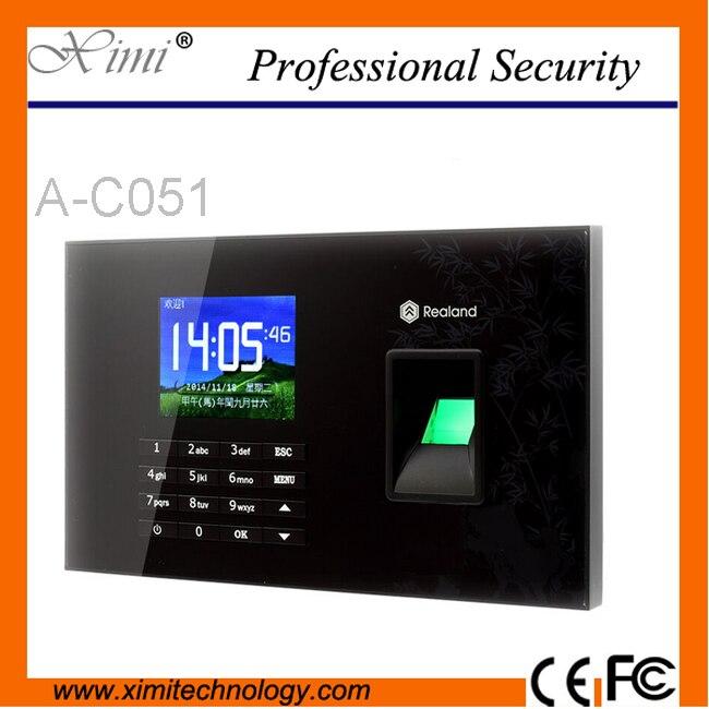 TCP/IP USB tarjeta RFID biometría de huella digital reloj de tiempo del registrador y pantalla táctil empleado tiempo asistencia sistema