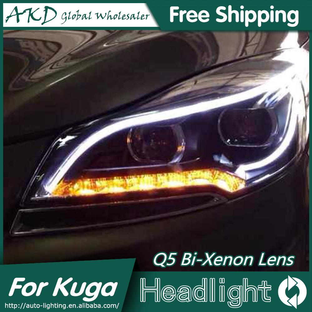 AKD Car Styling for Ford Kuga Headlights 2014-2015 Escape LED Headlight DRL Bi Xenon Lens High Low Beam Parking Fog Lamp